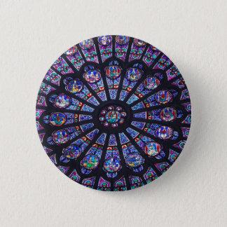 Rose Window Paris 2 Inch Round Button
