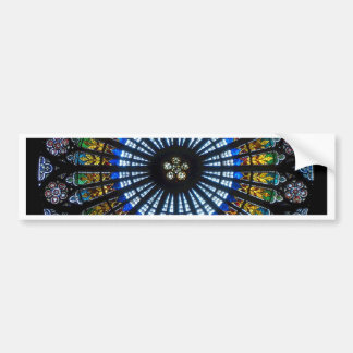 rose window strasbourg cathedral bumper sticker