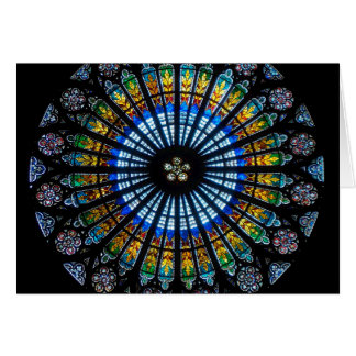 rose window strasbourg cathedral card