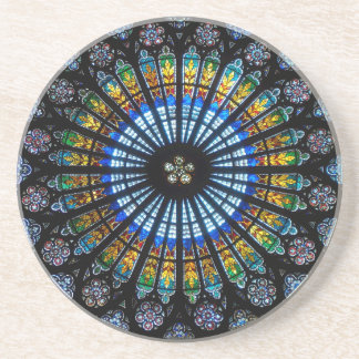 rose window strasbourg cathedral coaster