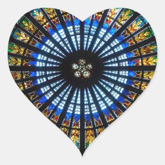 rose window strasbourg cathedral heart sticker