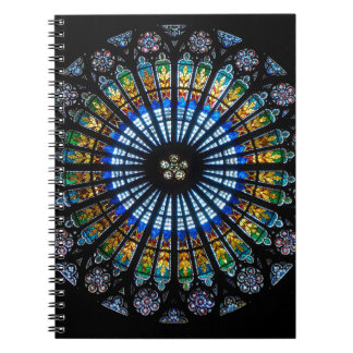 rose window strasbourg cathedral notebook