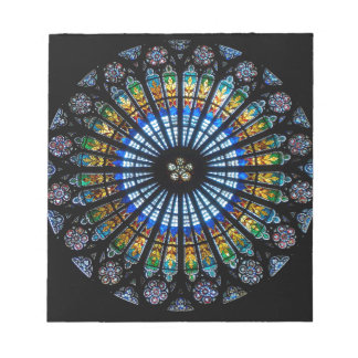 rose window strasbourg cathedral notepad