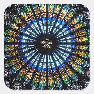 rose window strasbourg cathedral square sticker