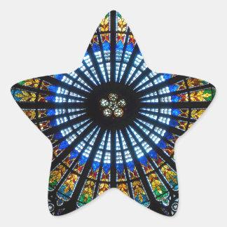 rose window strasbourg cathedral star sticker