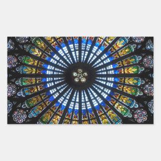 rose window strasbourg cathedral sticker