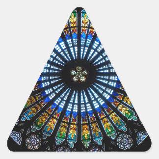 rose window strasbourg cathedral triangle sticker