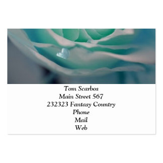 rose with hearts aqua business card templates