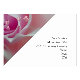 rose with hearts pink business card
