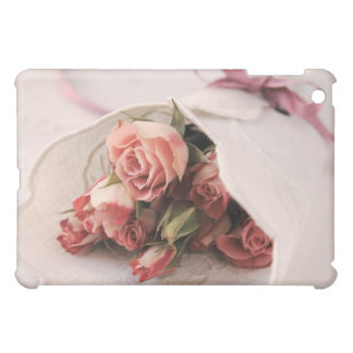 rose with linens ipad case