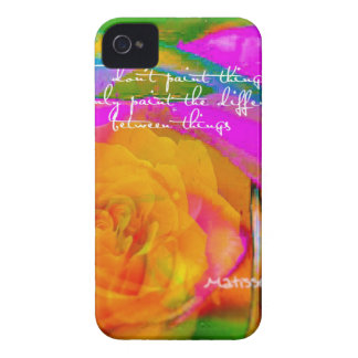 Rose with Matisse message. iPhone 4 Case-Mate Case