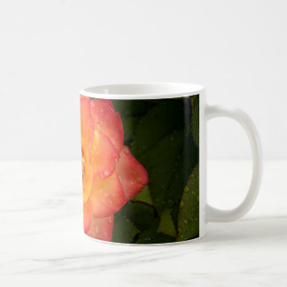 Rose with water droplets coffee mug