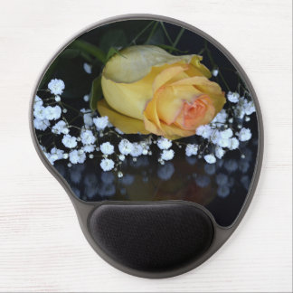 Rose Yellow Flower Blossom Vines Destiny Destiny's Gel Mouse Pad