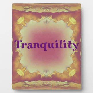 Rose Yellow Peach Framed 'tranquility ' Plaque