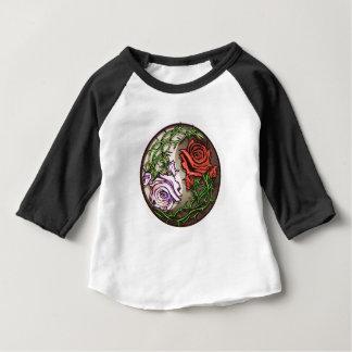 Rose yingyang tattoo design baby T-Shirt