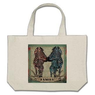 Rose Zebra Family Bag