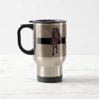 Rose Zebra Monogram  Travel Mug