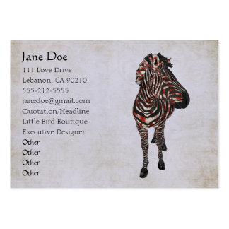 Rose Zebra White Vintage Business Cards