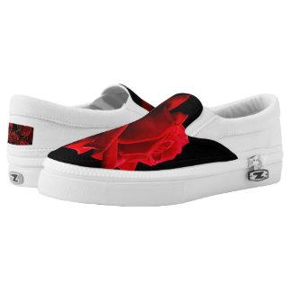 Rose Zipz Slip On Shoes