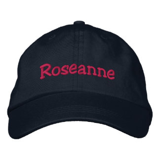 Roseanne Embroidered Baseball Cap Navy & Hot Pink
