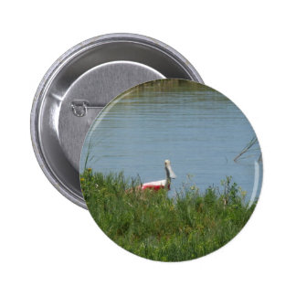 Roseate Spoonbill 2 Inch Round Button