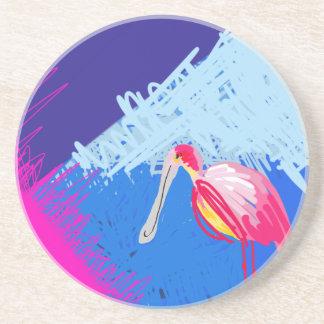 Roseate-Spoonbill Coasters