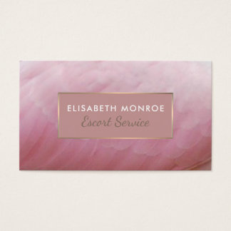 Roseate Spoonbill Feathers, Escort Service Business Card