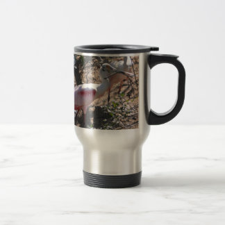 Roseate Spoonbill High Island Texas 15 Oz Stainless Steel Travel Mug