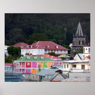 Roseau, Dominica Poster