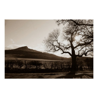 Roseberry Topping. England Poster
