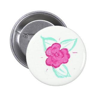 Rosebud 2 Inch Round Button