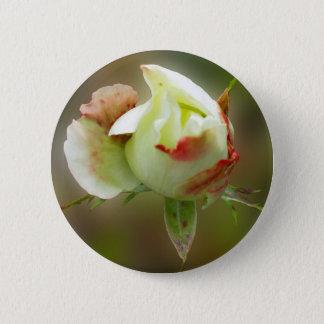 rosebud glowing 2 inch round button