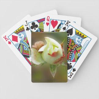 rosebud glowing bicycle playing cards
