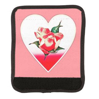 Rosebud heart luggage handle wrap
