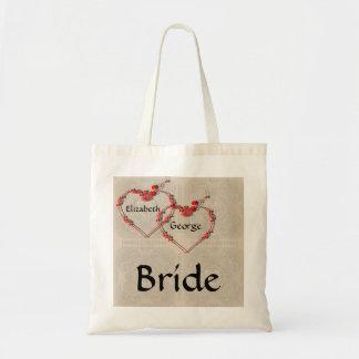 Rosebud Hearts Budget Tote Bag