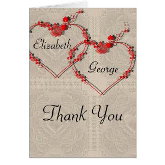 Rosebud Hearts Greeting Card