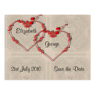 Rosebud Hearts Postcard