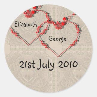 Rosebud Hearts Stickers