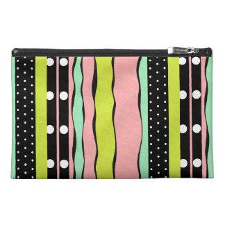 Rosebud Joy Stripes Travel Accessory Bag