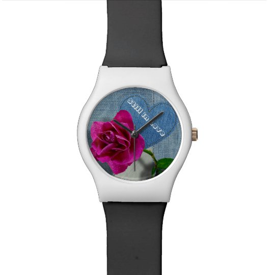Rosebud on patchwork out of Jean Watches