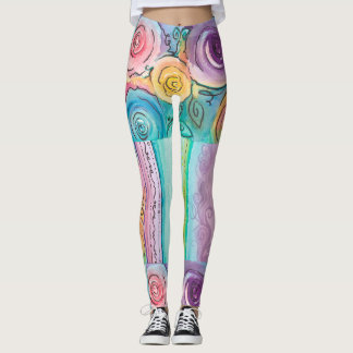 Rosebud Pattern Leggings
