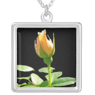 RoseBud Silver Plated Necklace