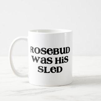 Rosebud Sled Coffee Mugs