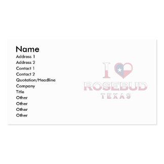 Rosebud, Texas Business Card Template