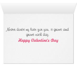 Rosebud Valentines Greeting Card