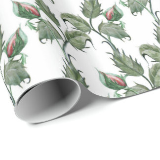 Rosebud Wrapping Paper