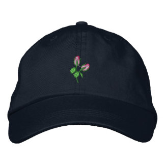 Rosebuds Embroidered Hat