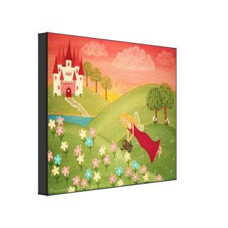 Rosée de matin - la fée du jardin 16x20 badine toiles tendues sur châssis