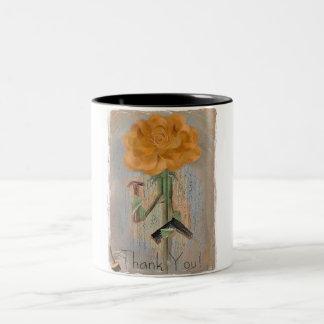 Rosegifts Carpenter Rose Mug. Two-Tone Coffee Mug