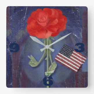 Rosegifts Peace Rose Square Wall Clock